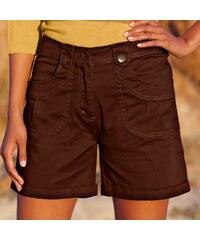 Blancheporte Strečové šortky rovného střihu čokoládová 36