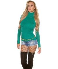 I-Moda Zelený dámský rolák