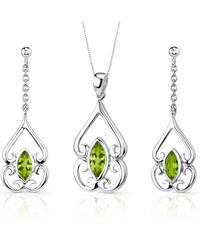 Eppi Stříbrná kolekce šperků s olivíny Nasia