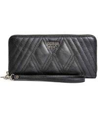 Guess Elegantní peněženka Shea Zip-Around Black