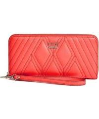 Guess Elegantní peněženka Shea Zip-Around Orange