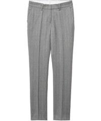 GANT Diamond G Pantalon Slim En Toile Rustique à Rayures Tennis - Graphite