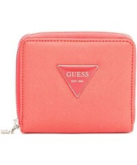 GUESS GUESS Abree Textured Zip-Around Wallet - coral