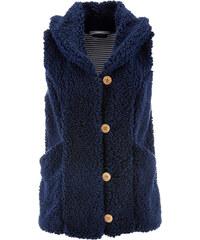 bpc bonprix collection Gilet sans manches maille peluche bleu femme - bonprix