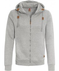 SUBLEVEL Herren Sweatjacke Strickjacke grau aus Baumwolle