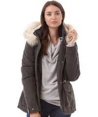 Only Damen Star Fur Peat Parka Jacke Braun