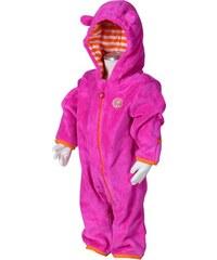 Bugga Dívčí fleecový overal - růžový