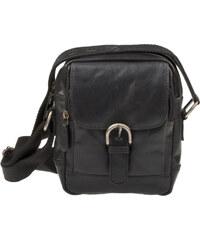 Lagen Pánská kožená taška Black 3016/T