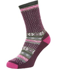 Smartwool COZY CABIN LIGHT Chaussettes de sport aubergine heather