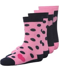 Ewers 4 PACK Chaussettes dunkelblau/pink