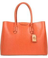 Lauren Ralph Lauren Sacs portés main, City Tote Sunkist/Cocoa en rouge, orange