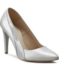 High Heels EDEO - 1910-596/396 Srebro/Szary