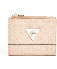 Guess Swoon logo bi-fold peněženka rose pink