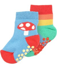 Frugi GRIPPY 2 PACK Chaussettes rainbow