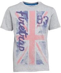 Firetrap Junior Union Jack T-Shirt Vintage Grey Heather