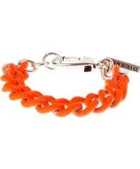 Diesel AGUMMY Bracelet silvercoloured/orange