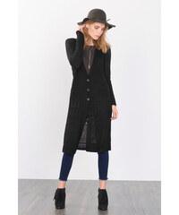 Esprit Dlouhý pletený kabát s ažurovým vzorem