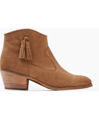 Esprit Kotníkové boty, semiš, ozdobné střapečky