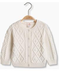 Esprit Kardigan, copánkový vzor, 100% bavlna