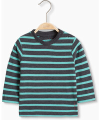 Esprit T-shirt rayé manches longues en coton bio