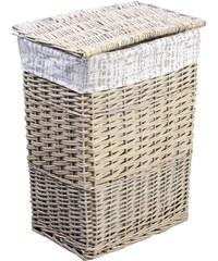 AQUALINE - Prádelní koš, 43l, krémová (KF048)