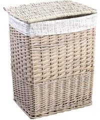 AQUALINE - Prádelní koš, 73l, krémová (KF038)