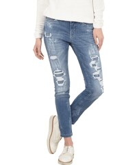 MAC Destroyed Skinny Fit Jeans mit Bleached-Details