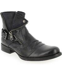 Boots Homme Kdopa en Cuir Noir