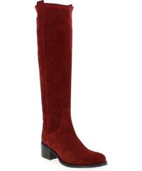 Bottes Femme Muratti en Cuir velours Rouge