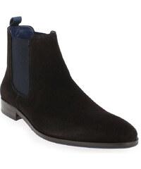 Boots Homme Brett and Sons en Cuir velours Marron