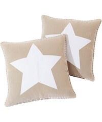 bpc living Povlak na polštář Hvězdy (2 ks) bonprix
