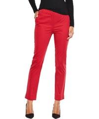 CLOSET Červené smart chino kalhoty