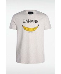 T-shirt homme motif banane Blanc Polyester - Homme Taille L - Bonobo