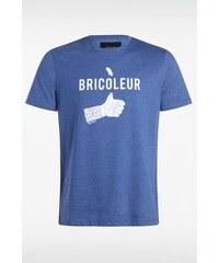 T-shirt homme maille moulinée Bricoleur Bleu Polyester - Homme Taille L - Bonobo