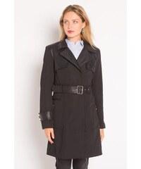 Trench-coat bimatière Noir Synthetique (polyurethane) - Femme Taille 1 - Cache Cache