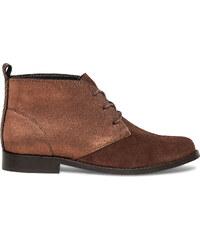 Eram Boots marron irisé à lacet