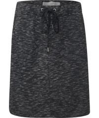 Cecil - Jupe en jersey chiné - Black