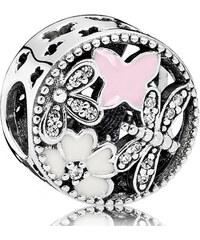 Pandora Romantický korálek s květy 791842ENMX