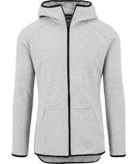 Urban Classics Athletic High Interlock Hooded Sweat Zipper grey