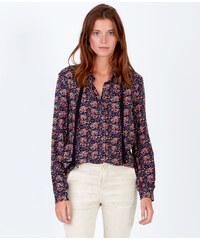 Chemise à imprimés fleuris, détail lien à l'encolure Etam
