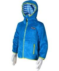 Bugga Chlapecká fleecová mikina - modrá