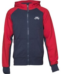 Nike SB Junior Boys Everette Graphic Full Zip Hoody Squadron Blue