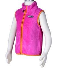 Bugga Dívčí fleecová vesta - růžová