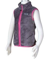 Bugga Dívčí fleecová vesta - šedá