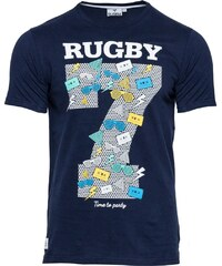 Rugby Division Neck Party - T-Shirt - marineblau