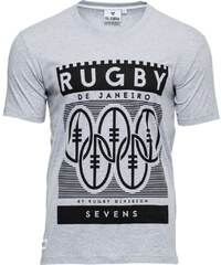 Rugby Division Neck Olympus - T-Shirt - grau meliert