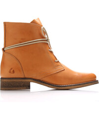 a79242d54cc Světle hnědé kožené boty s tkaničkami Online Shoes