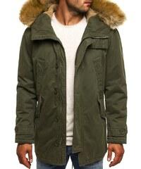 J. Style Moderní velmi pohodlná pánská bunda s kožešinou J.STYLE 3148