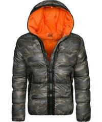 Stegol Zimní bunda s maskáčovým vzorem oranžová STEGOL 128