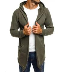 Breezy Pánský kardigan v khaki barvě BREEZY 9084